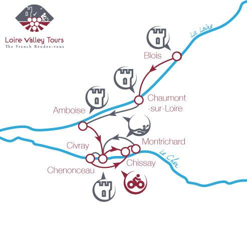 Cycling tour Loire Valley map B6