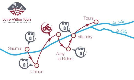 Cycling tour Loire Valley map B8