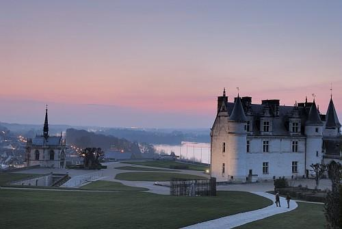 Chateau of Amboise sunset - Part of Loire Valley cycling tour B6