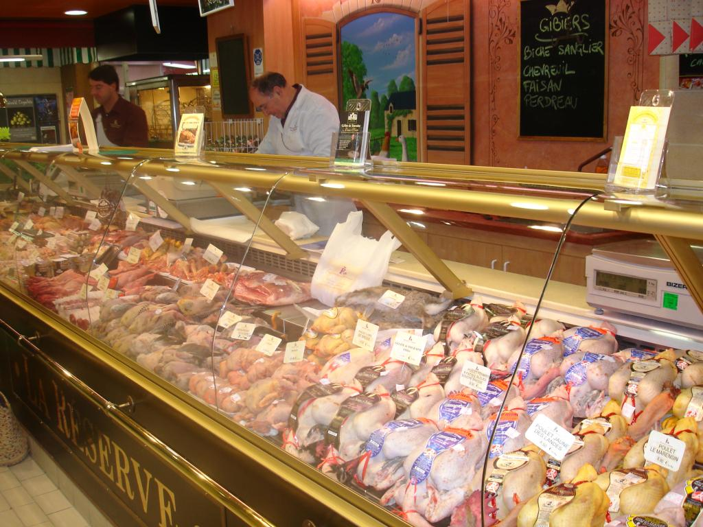 Gibier market - Part of Loire Valley cycling tour B8