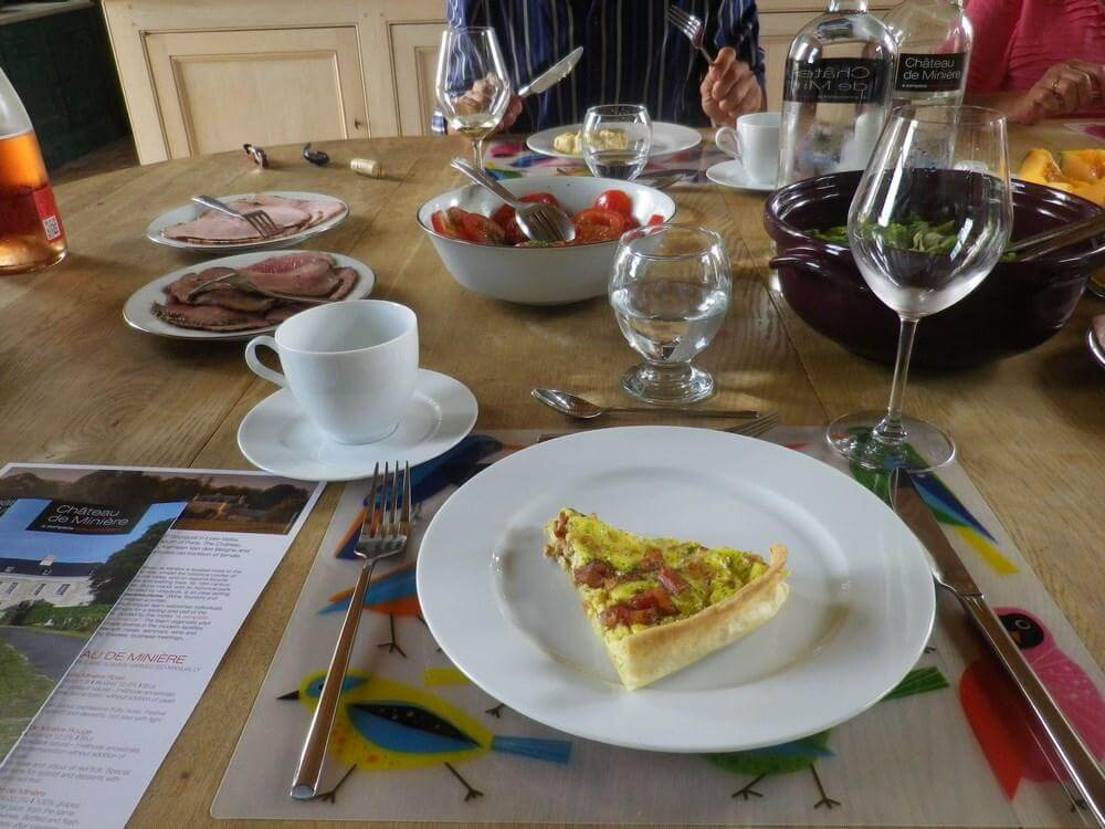 Lunch, Loire Valley, Chinon, Langeais, Villandry, food