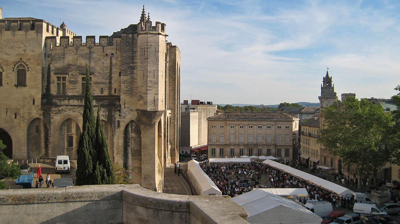 Avignon, provence, château, castle, chateau