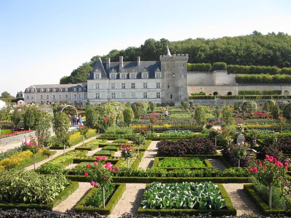 Chateau, château, castel, villandry, garden