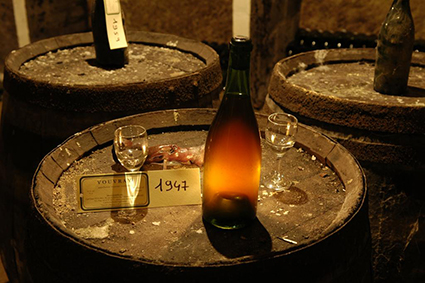 Vouvray cellar, tour ans tasting, part of the guided Loire Valley Day tour D3
