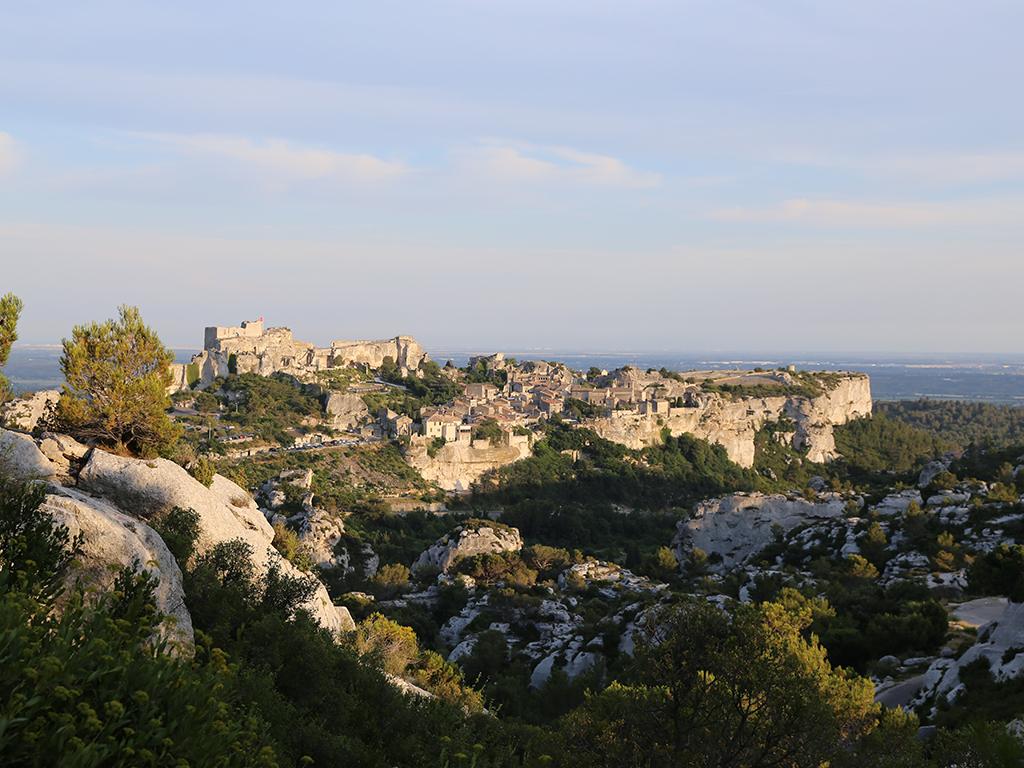 medieval mountain village baux de provence